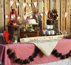 Happy Campers | Camping themed birthday party