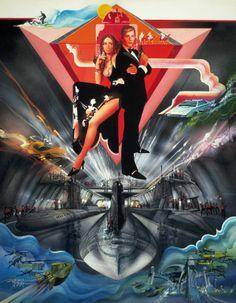 James Bond: The Spy Who Loved Me - 1977 - Poster art