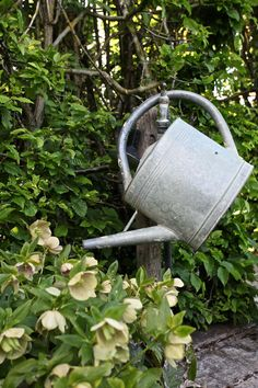 ♕ watering can hanging from faucet at the Priory d' Orsan gardens