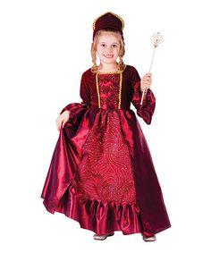 Love this Burgundy Ball Gown Dress-Up Set - Toddler & Girls on #zulily! #zulilyfinds
