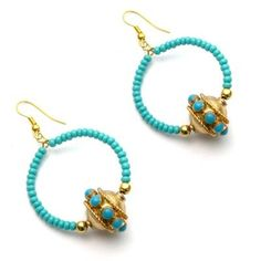 Shopo | Product from Swa Shop Shop | Vintage bead earrings with turqouise