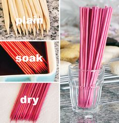 Use food coloring to make skewers match party theme