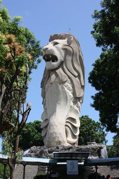 Merlion Statue Santosa Island Singapore