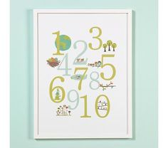 Great Outdoors Numbers Poster