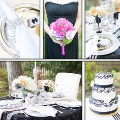 Sophisticated Halloween wedding board. Photos by Astrid Photography