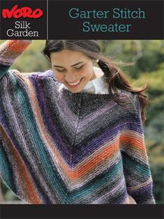 Silk Garden Garter Stitch Sweater [Y-957] from  by Noro at KnittingFever.com  Free Pattern