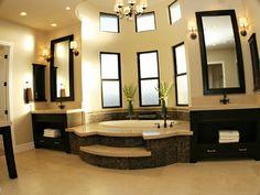 Beautiful master bath design.