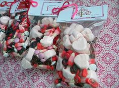 Home made valentines goodie bags