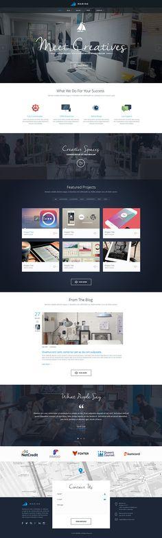 Marine Theme - Homepage v.4