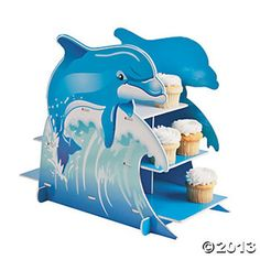 3 Tiered Dolphin Theme Cupcake Holder