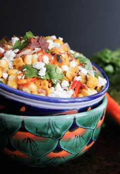 Charred Corn with Bacon, Chiles and Cheese