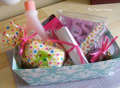 gift baskets, pedicur kit, pedicur gift, pedicures, girl parties