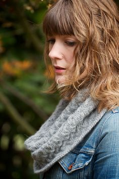 Vashon Cowl  soft wave cabled sport weight by ChelseaAnneDesign, $4.99