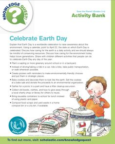 Get ready for Earth Day with this FREE activity list.