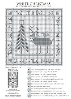 White Christmas - The Drawn Thread (grille gratuite)