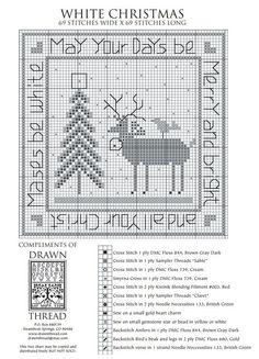 White Christmas - The Drawn Thread (grille gratuite)