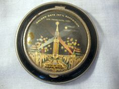 A Vintage Powder Compact from 1939 Golden Gate International Expostion - Tower of Sun | eBay