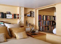 book nooks, loft, new york apartments, librari, tiny apartments, jewel box, small spaces, bedroom, modern design