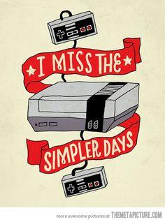 The simpler days…