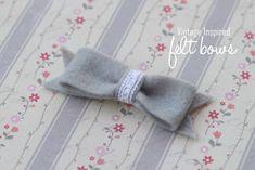 Felt Bow {tutorial} - I Heart Nap Time | I Heart Nap Time - Easy recipes, DIY crafts, Homemaking