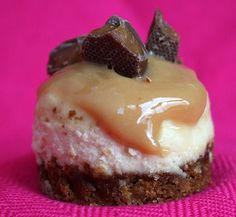 Mini Toffee Crunch Cheesecakes