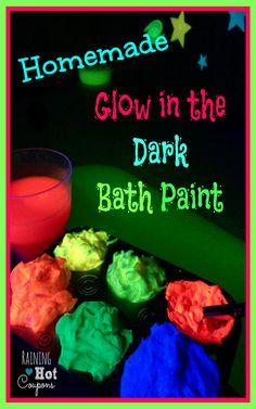 Homemade Glow in the Dark Bath Paint