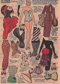 Gloria Paper Doll, Katy Keene January 1954 Bill Woggen