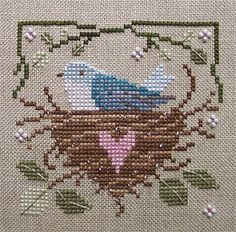 nest bird, color, count crossstitch, bird nests, chart, cross stitch patterns, cross stitches