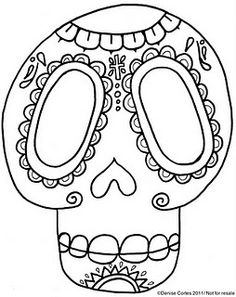 "Sugar skull template..perfect for a ""Day of the Dead"" lesson or celebration..."
