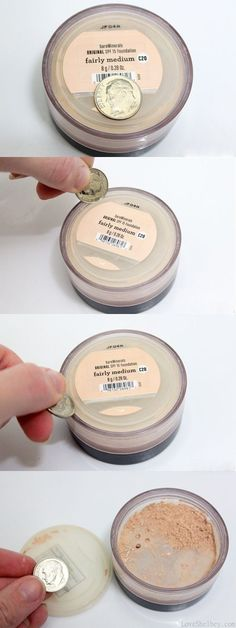 How to get your Bare Minerals foundation out of the container (once it starts getting low) I seriously needed this!