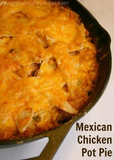 Looks like an interesting twist on a traditional comfort food. Mexican Chicken Pot Pie