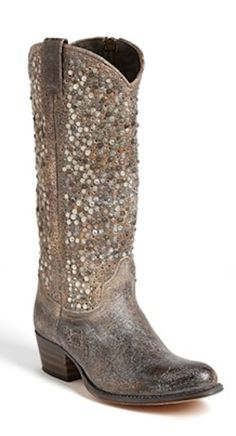 Beautiful nail head studs embellish this cowboy boot  http://rstyle.me/n/d6fewnyg6