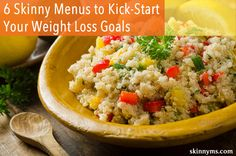 6 Skinny Menus to Kick-Start Your Weight Loss Goals #weightloss #goals #skinnyms #menuplanning