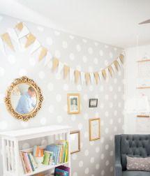 Polka dot wall and bunting