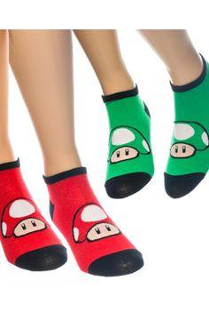#Nintendo Mushroom Ankle Socks Pack ($11.99)