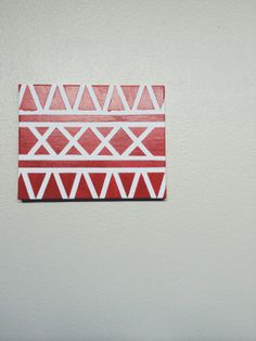 Red Triangle Wall art by ElevatedArtistry on Etsy, $30.00