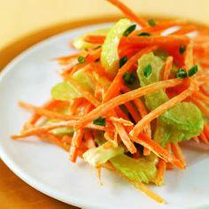 Carrot Celery Slaw with Yogurt Dressing