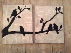 diy bird painting, painting on newspaper, paint canvas diy, diy crafts, canvas diy painting, paintings diy, diy paintings, bird painting diy, birds diy