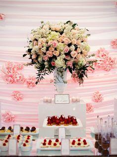 Chanel inspired dessert table.