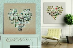 Custom Heart-Shaped Photoshop and InDesign Template Storyboard Collage for Photographers | Design Aglow