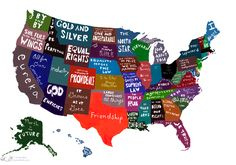 US state motto map