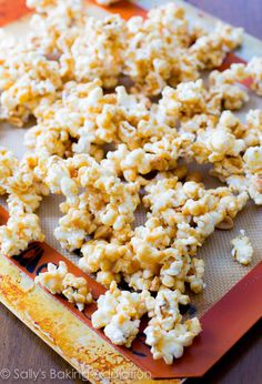 Stove-top (and completely addicting) Peanut Butter Caramel Corn.