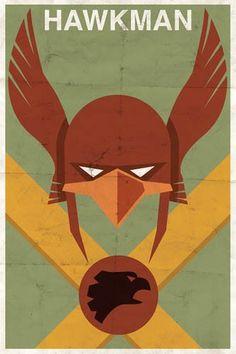 Minimalist Hawkman