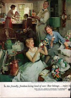 1948 Home Life in America Series Haddon Sundblom