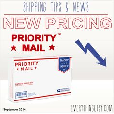 Etsy sellers...this is for you!      USPS® Price Changes — Now I Love Priority Mail® Even More #etsy #business