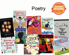 This week's batch of #sumemrreading recs are all about poetry! Read the books then log your minutes over at the Scholastic Summer Reading Challenge website (click to check it out!)
