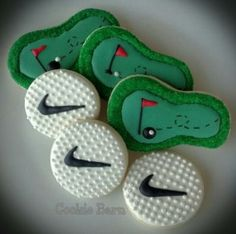 Golf Sport Themed Decorated Sugar Cookies by cookiebarn for $33.00