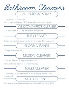 DIY bathroom cleaners
