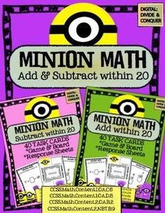 Minion Math - Addition & Subtraction
