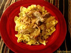Dairy free beef stroganoff...you wont even be able to tell that this is dairy free, its so tasty!